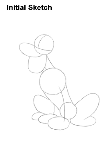 How to Draw Pluto Dog Disney Full Body Guides Lines
