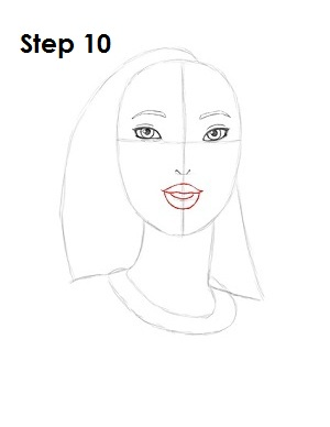 How to Draw Pocahontas Step 10