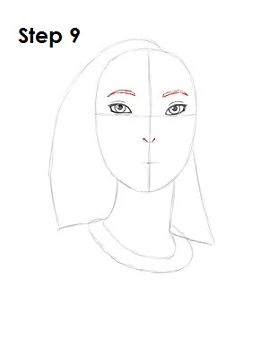 How to Draw Pocahontas Step 9
