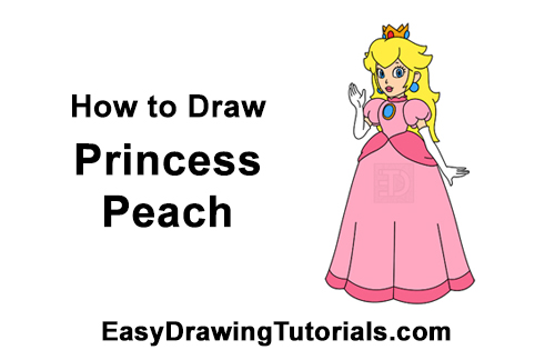 How to Draw Princess Peach Full Body Nintendo