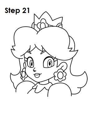 Draw Princess Daisy Step 21