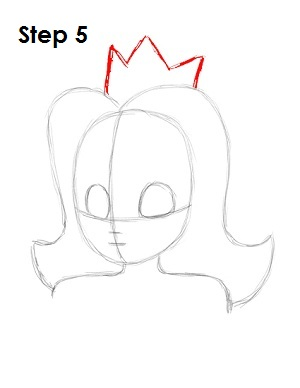 Draw Princess Daisy Step 5