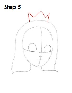 Draw Princess Peach Step 5