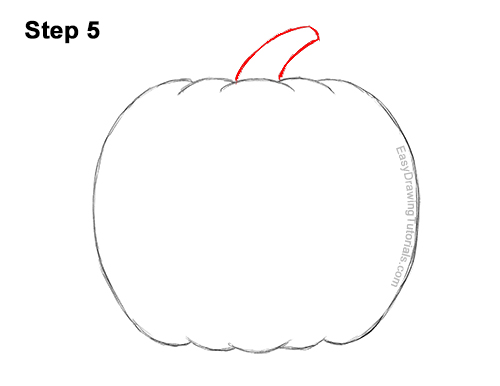 How to Draw a Halloween Pumpkin jack-o-lantern Smiling 5