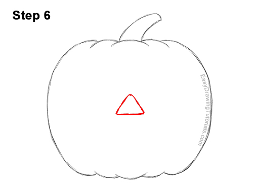 How to Draw a Halloween Pumpkin jack-o-lantern Smiling 6