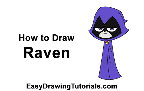 How to Draw Raven Teen Titans Go Full Body