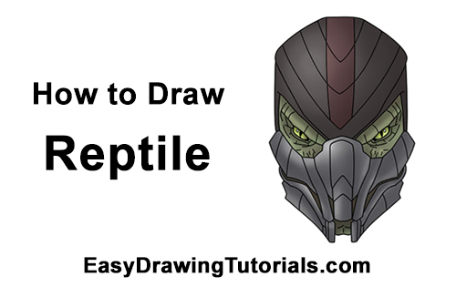 How to Draw Reptile Mortal Kombat