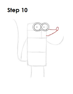 How to Draw Rigby Step 10