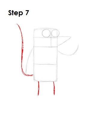 How to Draw Rigby Step 7