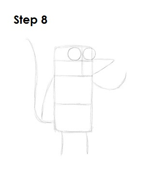 How to Draw Rigby Step 8