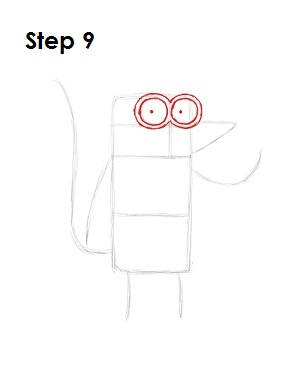 How to Draw Rigby Step 9