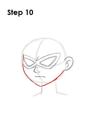 How to Draw Robin Step 10