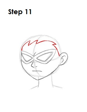 How to Draw Robin Step 11