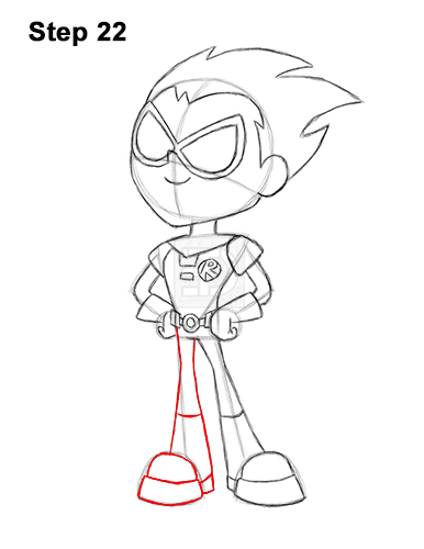 How to Draw Robin Teen Titans Go Full Body 22