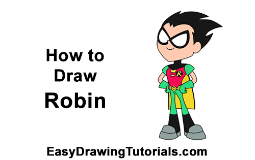 How to Draw Robin Teen Titans Go Full Body
