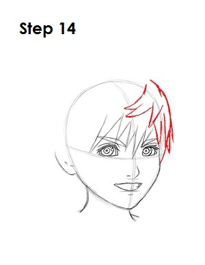 How to Draw Roxas Step 14