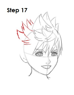 How to Draw Roxas Step 17