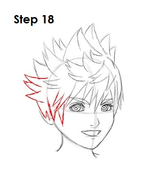 How to Draw Roxas Step 18