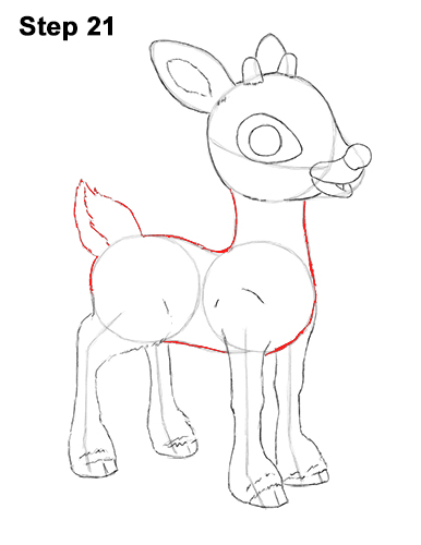 Draw Rudolph the Red-Nosed Reindeer 21