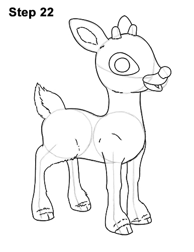 Draw Rudolph the Red-Nosed Reindeer 22