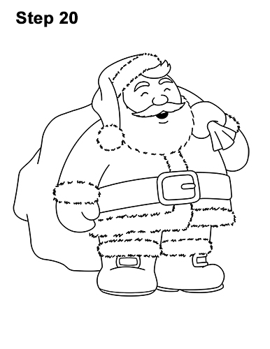 How to Draw Santa Claus Christmas Full Body 20