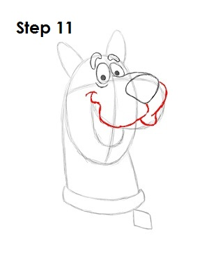 How to Draw Scooby-Doo Step 11