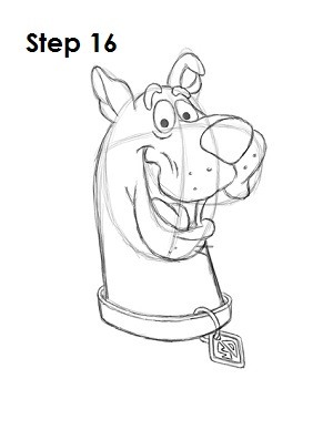 How to Draw Scooby-Doo Step 16