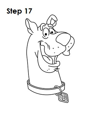 How to Draw Scooby-Doo Step 17