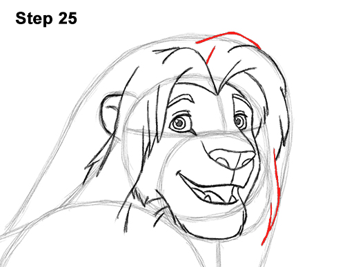 Draw Adult Grown Up Simba Lion King Disney 25