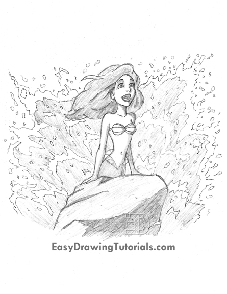 Special Drawing Ariel The Little Mermaid Graphite