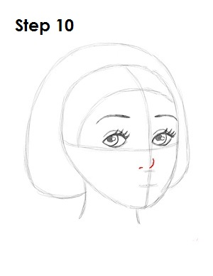 How to Draw Snow White Step 10