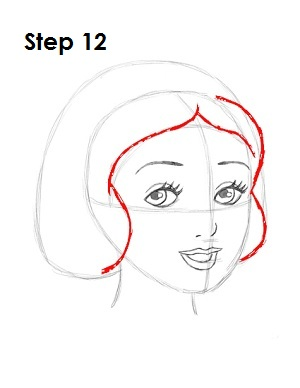 How to Draw Snow White Step 12