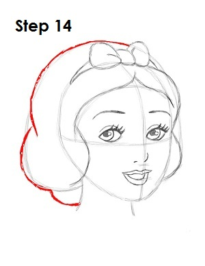 How to Draw Snow White Step 14