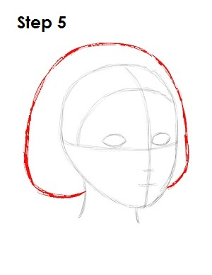 How to Draw Snow White Step 5