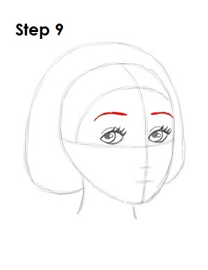 How to Draw Snow White Step 9