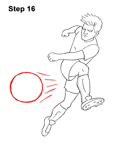 How To Draw A Soccer Player Video Step By Step Pictures