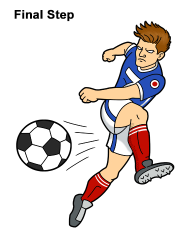 Get Cartoon Soccer Player Drawing Easy Background
