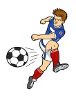 How to Draw Soccer Football Player Kicking