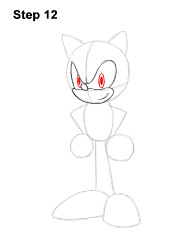 How to Draw Sonic the Hedgehog Full Body 12