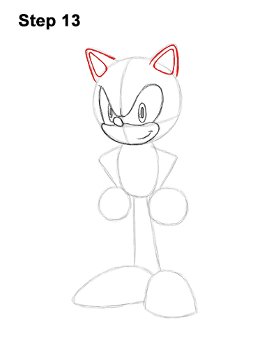 How to Draw Sonic the Hedgehog Full Body 13