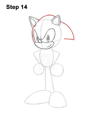 How to Draw Sonic the Hedgehog Full Body 14