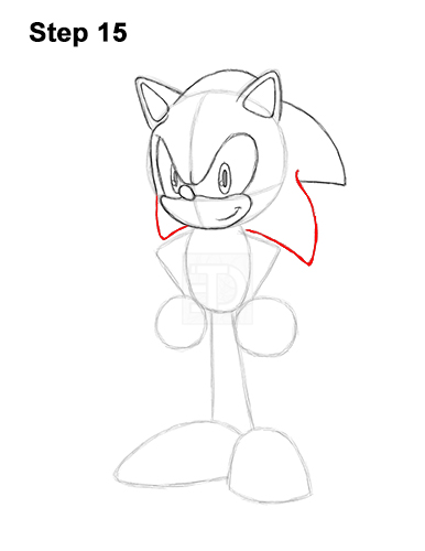 How to Draw Sonic the Hedgehog Full Body 15
