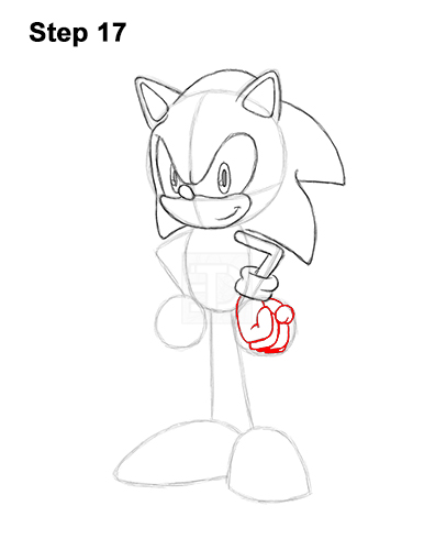 How to Draw Sonic the Hedgehog Full Body 17