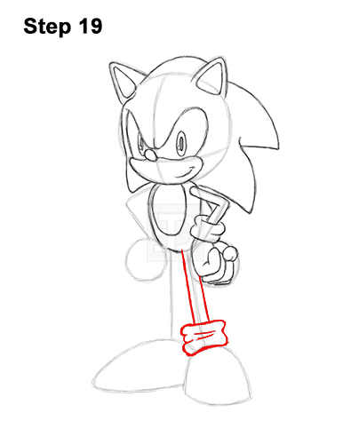 How to Draw Sonic the Hedgehog Full Body 19
