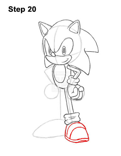 How to Draw Sonic the Hedgehog Full Body 20