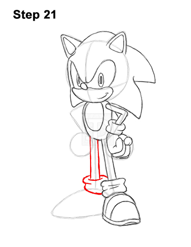 How to Draw Sonic the Hedgehog Full Body 21
