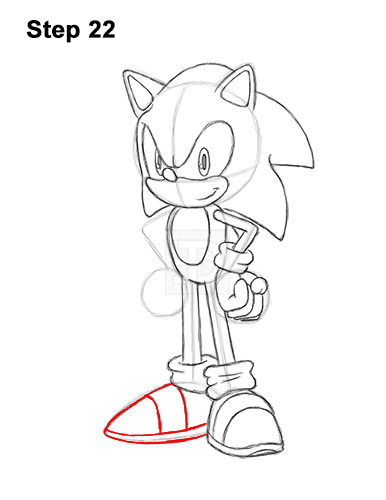 How to Draw Sonic the Hedgehog Full Body 22