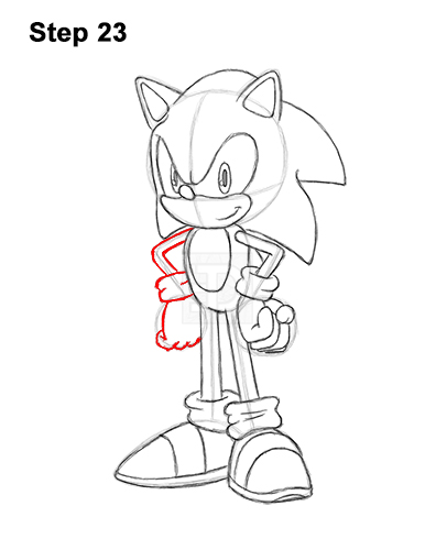How to Draw Sonic the Hedgehog Full Body 23