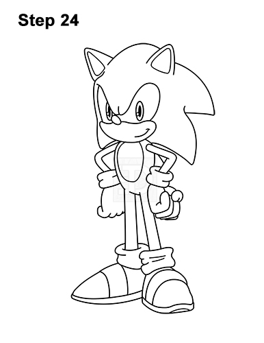 How To Draw Sonic The Hedgehog Full Body Video Step By Step Pictures