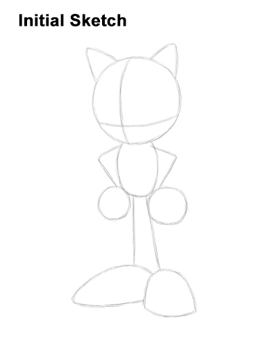 How to Draw Sonic the Hedgehog Full Body Guides Lines